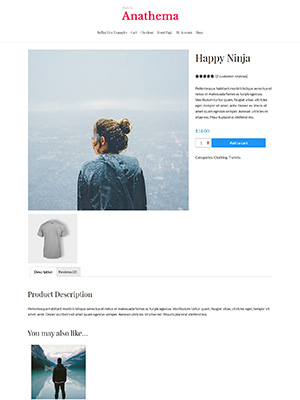 A sample WoooCommerce Single Product Page